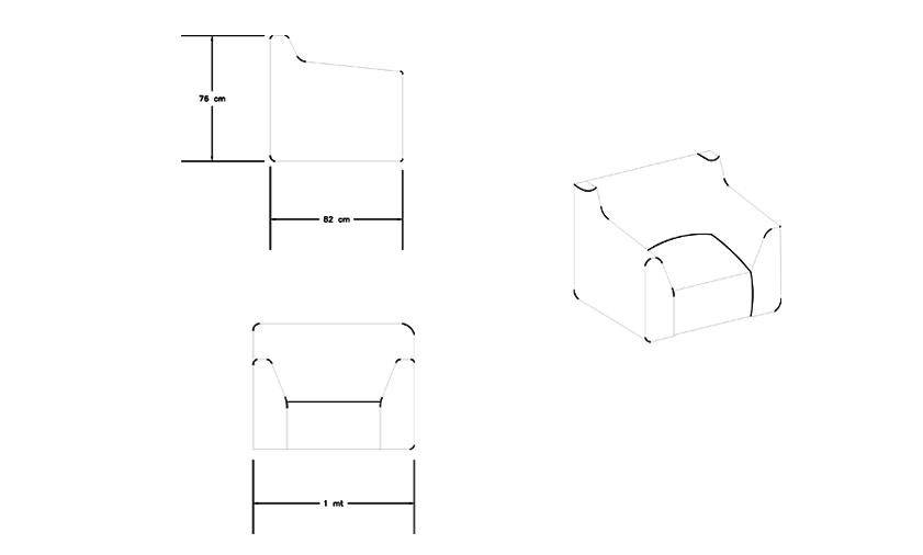 Sala Modular Ziu - Planos